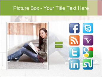 Student studying PowerPoint Template - Slide 21