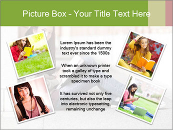 Student studying PowerPoint Template - Slide 24