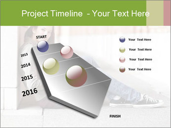 Student studying PowerPoint Template - Slide 26