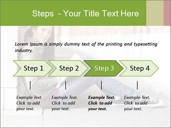 Student studying PowerPoint Template - Slide 4