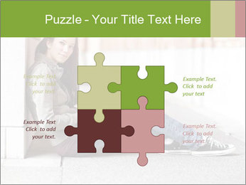 Student studying PowerPoint Template - Slide 43
