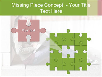 Student studying PowerPoint Template - Slide 45
