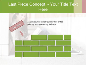Student studying PowerPoint Template - Slide 46