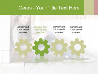 Student studying PowerPoint Template - Slide 48