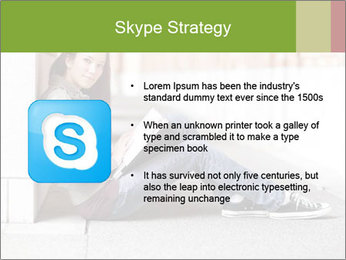 Student studying PowerPoint Template - Slide 8