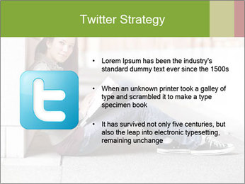 Student studying PowerPoint Template - Slide 9