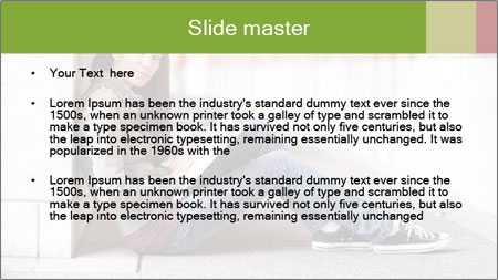 Student studying PowerPoint Template - Slide 2