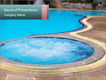 Swimming pool PowerPoint Template - Slide 1