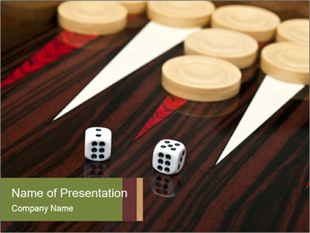 Backgammon table PowerPoint Template
