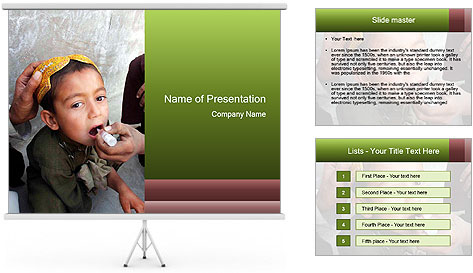 Unidentified child PowerPoint Template