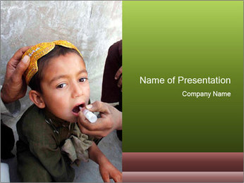 Unidentified child PowerPoint Template - Slide 1