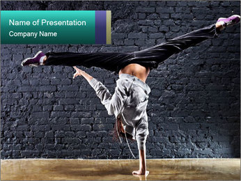 Young woman dancer PowerPoint Templates - Slide 1