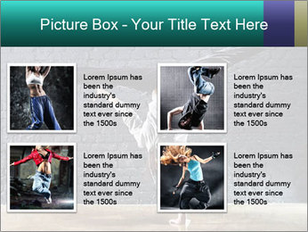 Young woman dancer PowerPoint Templates - Slide 14