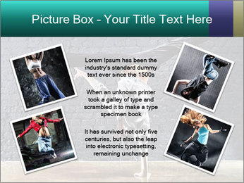 Young woman dancer PowerPoint Template - Slide 24