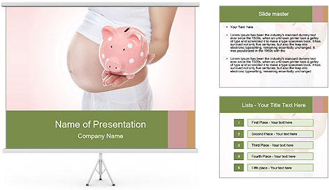 A pregnant mom PowerPoint Template