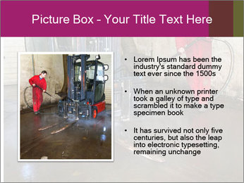 Man cleaning a forklift PowerPoint Template - Slide 13