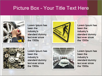 Man cleaning a forklift PowerPoint Template - Slide 14