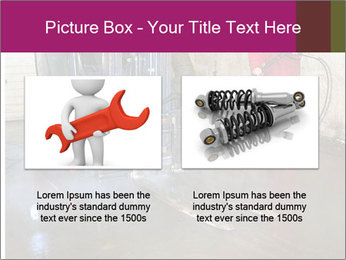 Man cleaning a forklift PowerPoint Template - Slide 18
