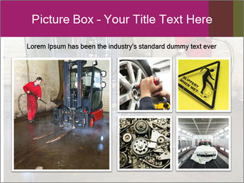 Man cleaning a forklift PowerPoint Template - Slide 19