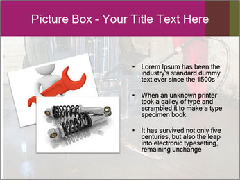 Man cleaning a forklift PowerPoint Template - Slide 20