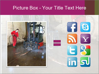 Man cleaning a forklift PowerPoint Template - Slide 21