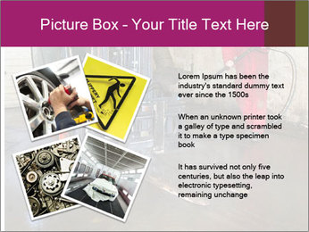 Man cleaning a forklift PowerPoint Template - Slide 23