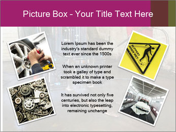 Man cleaning a forklift PowerPoint Template - Slide 24