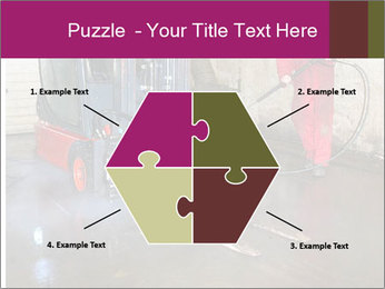 Man cleaning a forklift PowerPoint Template - Slide 40