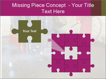 Man cleaning a forklift PowerPoint Template - Slide 45