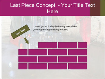 Man cleaning a forklift PowerPoint Template - Slide 46
