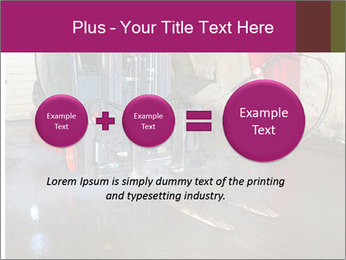 Man cleaning a forklift PowerPoint Template - Slide 75