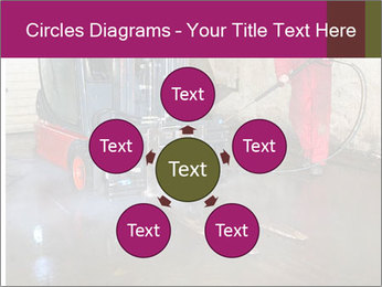 Man cleaning a forklift PowerPoint Template - Slide 78