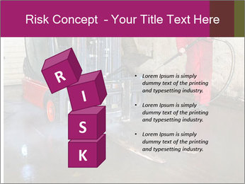 Man cleaning a forklift PowerPoint Template - Slide 81