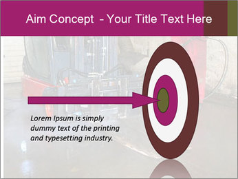 Man cleaning a forklift PowerPoint Template - Slide 83