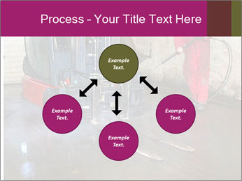 Man cleaning a forklift PowerPoint Template - Slide 91