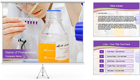 Laboratory assistant PowerPoint Template
