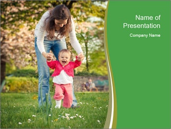 First steps PowerPoint Template - Slide 1