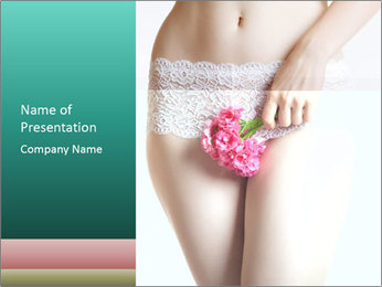 Female abdomen PowerPoint Template
