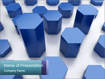 Abstract blue metallic PowerPoint Template - Slide 1