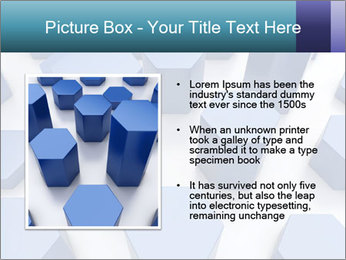 Abstract blue metallic PowerPoint Template - Slide 13