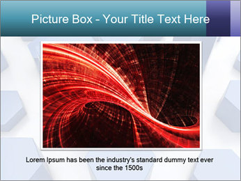 Abstract blue metallic PowerPoint Template - Slide 15