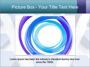 Abstract blue metallic PowerPoint Template - Slide 16