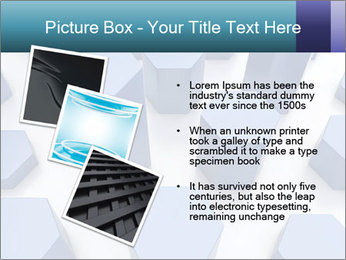 Abstract blue metallic PowerPoint Template - Slide 17