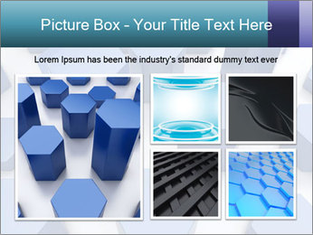 Abstract blue metallic PowerPoint Template - Slide 19