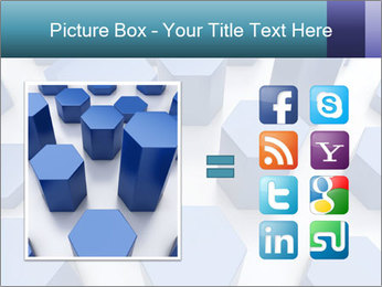 Abstract blue metallic PowerPoint Template - Slide 21