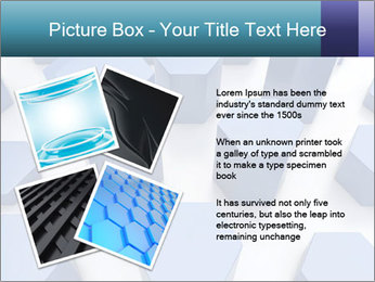 Abstract blue metallic PowerPoint Template - Slide 23