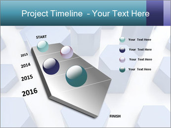Abstract blue metallic PowerPoint Template - Slide 26