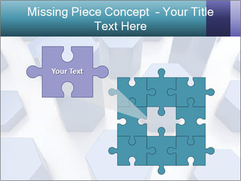 Abstract blue metallic PowerPoint Template - Slide 45