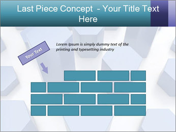 Abstract blue metallic PowerPoint Template - Slide 46