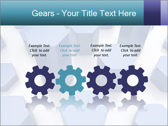 Abstract blue metallic PowerPoint Template - Slide 48